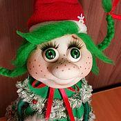 """Куклы и игрушки ручной работы. Ярмарка Мастеров - ручная работа Чулочно - текстильная кукла """"Ёлочка"""" 1. Handmade."""
