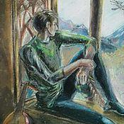 """Картины и панно ручной работы. Ярмарка Мастеров - ручная работа """"Менестрель"""", картина пастелью.. Handmade."""