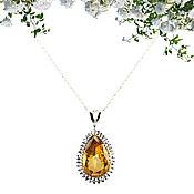 Украшения handmade. Livemaster - original item 6.24 ct Bohemian pendant
