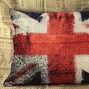 Для дома и интерьера ручной работы. Ярмарка Мастеров - ручная работа Бархатная подушка Британский флаг. Handmade.