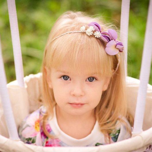 Для новорожденных, ручной работы. Ярмарка Мастеров - ручная работа. Купить Веночек с цветами для фотосессии новорожденных. Цветочный венок. Handmade.