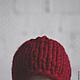 Шапки ручной работы. Шапка красная двухсторонняя. Даша (Faktura-tepla). Интернет-магазин Ярмарка Мастеров. Однотонный