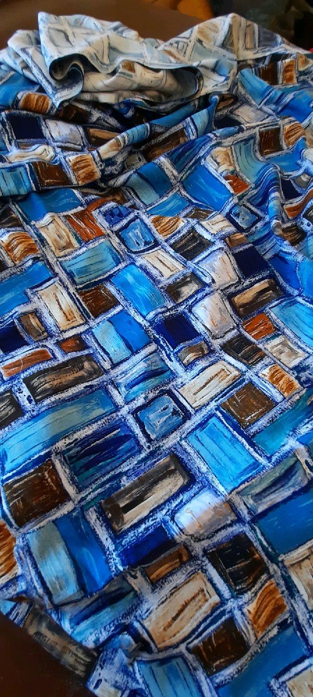Ткань штапель 3D принт ФМа 02цв.04, Ткани, Москва,  Фото №1