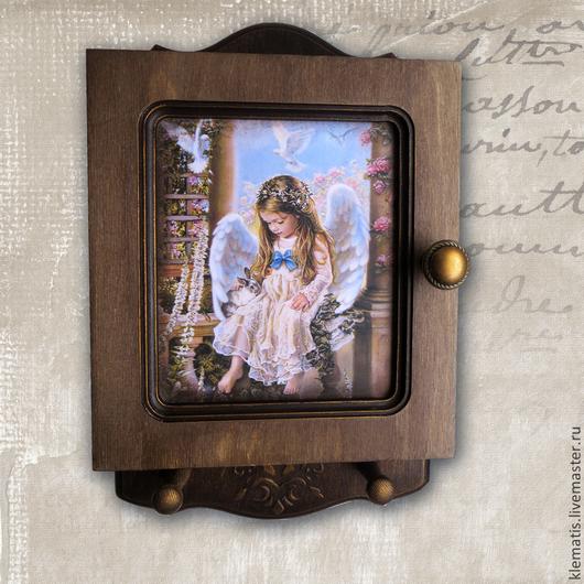 Прихожая ручной работы. Ярмарка Мастеров - ручная работа. Купить Ключница  Нежность (ангел,ключница с ангелом). Handmade. Ключница