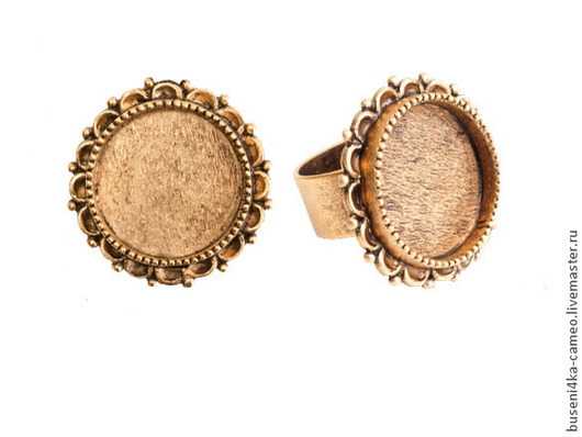 Для украшений ручной работы. Ярмарка Мастеров - ручная работа. Купить Основа для кольца Винтаж 20мм, ND античное золото (1шт). Handmade.