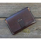 Сувениры и подарки handmade. Livemaster - original item The holder for autodocuments and the passport. Genuine leather. art. D. Handmade.