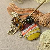 Украшения handmade. Livemaster - original item Brooch needle: Autumn lampwork. Handmade.