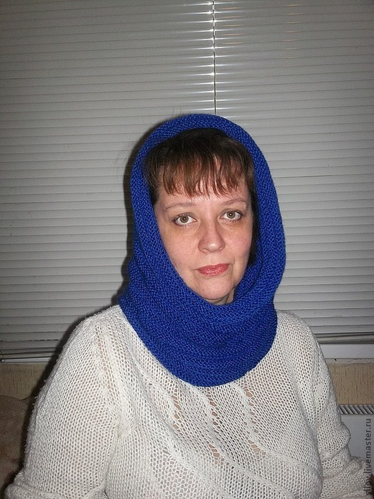 Шапки ручной работы. Ярмарка Мастеров - ручная работа. Купить Вязаный снуд-шарф. Handmade. Тёмно-синий, зимняя мода
