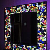 Для дома и интерьера ручной работы. Ярмарка Мастеров - ручная работа Разноцветное зеркало. Handmade.