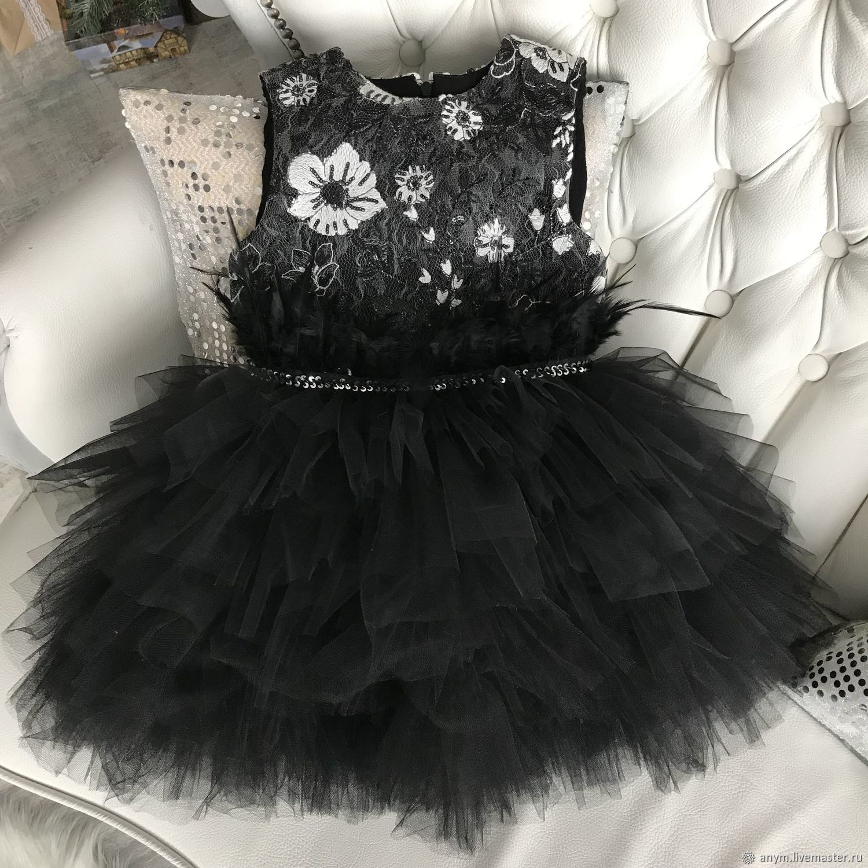 Нарядное платье для девочки BLACK SWAN
