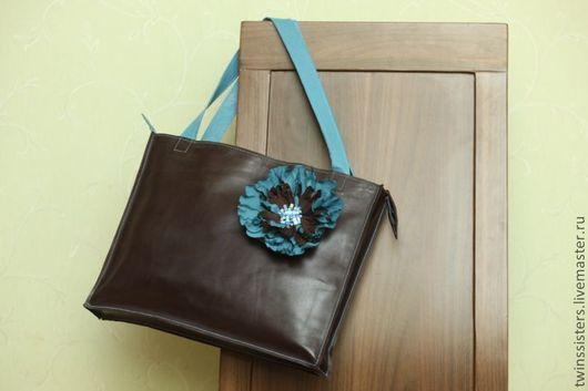 Женские сумки ручной работы. Ярмарка Мастеров - ручная работа. Купить Сумка.. Handmade. Однотонный, коричневый, натуральная кожа, мак