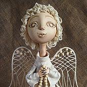 """Куклы и игрушки ручной работы. Ярмарка Мастеров - ручная работа """"Наивный ангел с чётками"""". Handmade."""