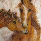 Картины и панно handmade. Livemaster - original item Pictures: The picture of the Horse hair. love. Handmade.