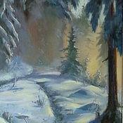 """Картины и панно ручной работы. Ярмарка Мастеров - ручная работа Картина """"Утро в зимнем лесу"""". Handmade."""