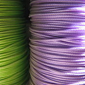 Материалы для творчества handmade. Livemaster - original item Synthetic cord 1mm for jewelry light green and purple, lavender. Handmade.
