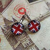 Украшения handmade. Livemaster - original item Earrings British flag (earrings). Handmade.