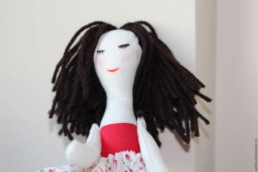 Коллекционные куклы ручной работы. Ярмарка Мастеров - ручная работа. Купить Текстильная кукла Балеринка. Handmade. Ярко-красный