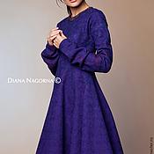 Одежда handmade. Livemaster - original item Dress of Merino wool and silk chiffon
