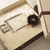Свадебный салон ручной работы. Ярмарка Мастеров - ручная работа Альбом для фото:``Шоколадная симфония``. Handmade.