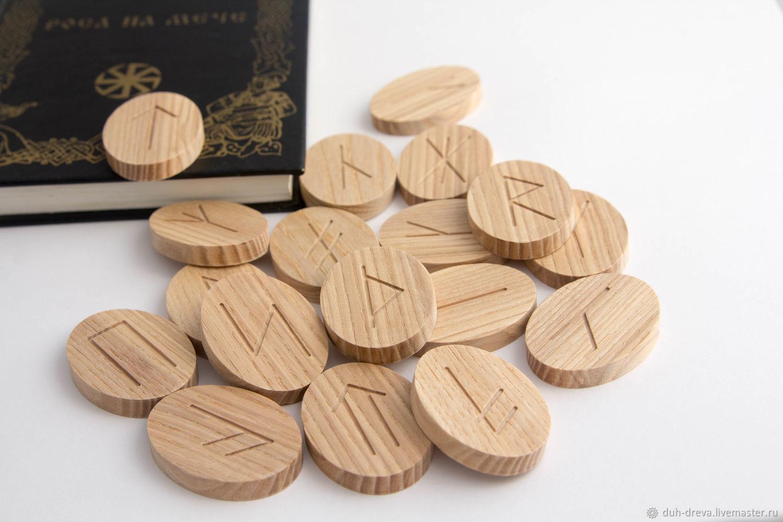 Slavic runes from wood ash