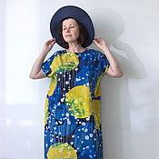 Одежда ручной работы. Ярмарка Мастеров - ручная работа Платье длинное из хлопка Звёздная ночь.. Handmade.
