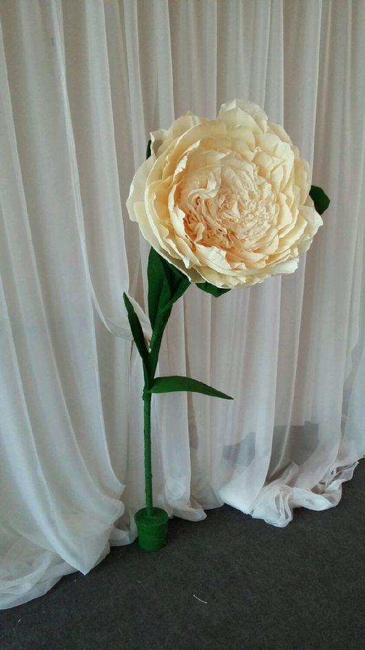 Свадебные аксессуары ручной работы. Ярмарка Мастеров - ручная работа. Купить Большие цветы для декора и фотосессии. Handmade. Комбинированный, тишью