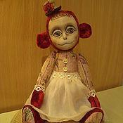 Куклы и игрушки ручной работы. Ярмарка Мастеров - ручная работа Обезьянка Глафира. Handmade.