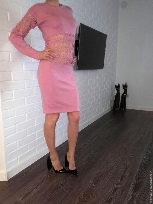 Платья ручной работы. Ярмарка Мастеров - ручная работа. Купить Платье Нежность. Handmade. Розовый, вязанное платье, нежное платье