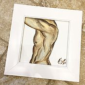 Картины и панно ручной работы. Ярмарка Мастеров - ручная работа Работа маслом, Торс. Handmade.