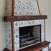 Для дома и интерьера handmade. Livemaster - original item Tiled fireplace Chalet. Handmade.