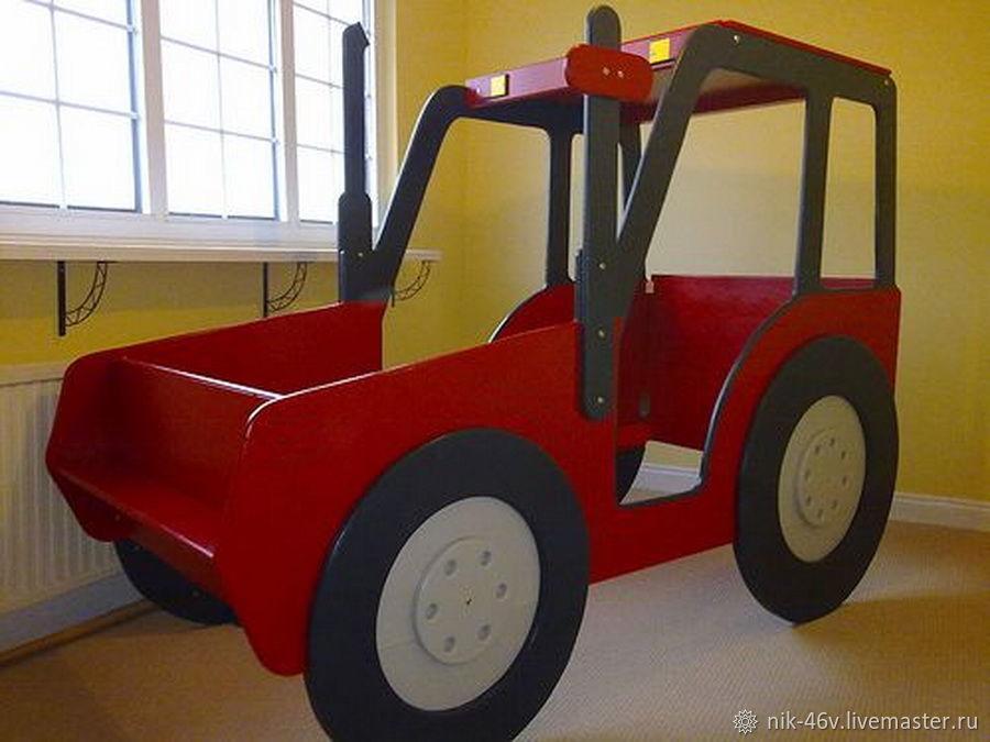Акция ЛЕТО: Синий трактор из мультика - кроватка детская ...