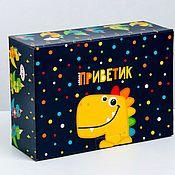 Упаковка ручной работы. Ярмарка Мастеров - ручная работа Коробка. «Приветик». Handmade.