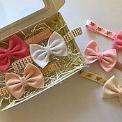 Работы для детей, handmade. Livemaster - original item Bow headband for girls. Handmade.