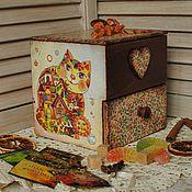 """Для дома и интерьера ручной работы. Ярмарка Мастеров - ручная работа Мини-комодик """"Мона Киса"""". Handmade."""