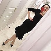 Одежда handmade. Livemaster - original item Classic dress, black dress, designer dress !. Handmade.