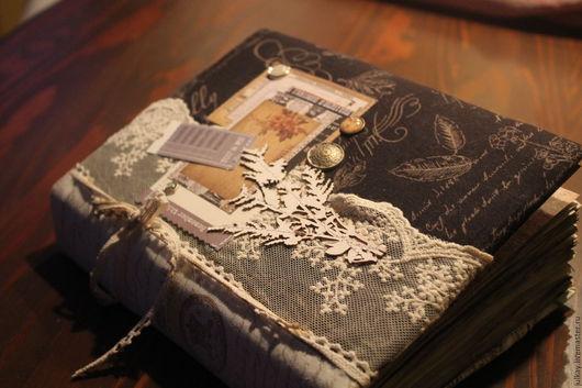 """Блокноты ручной работы. Ярмарка Мастеров - ручная работа. Купить Блокнот ручной работы """"История души"""". Handmade. Черный, Скрапбумага"""
