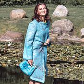"""Одежда ручной работы. Ярмарка Мастеров - ручная работа Пальто """"Бирюзовая нежность"""". Handmade."""