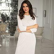 handmade. Livemaster - original item Knitted milk dress, white knitwear dress, form - fitting. Handmade.