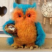 Куклы и игрушки ручной работы. Ярмарка Мастеров - ручная работа Cова Лоретта с гнездышком - интерьерная игрушка. Handmade.