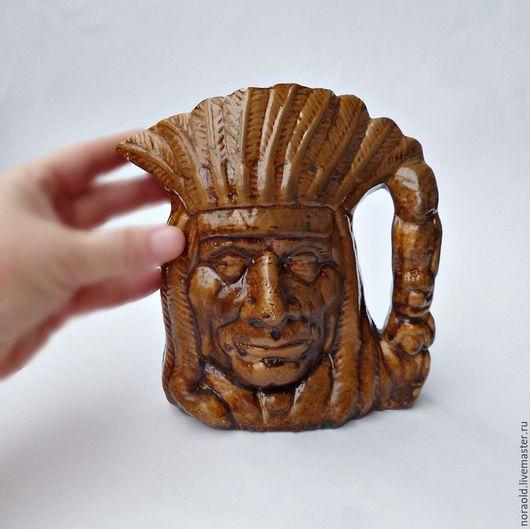 кувшин, кружка, керамика, Тоби, винтаж, Бразилия, ретро,  для интерьера, toby mug, toby jug
