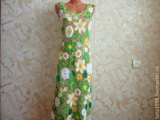Платья ручной работы. Ярмарка Мастеров - ручная работа. Купить Платье Лесная фея. Handmade. Ярко-зелёный, ирландское кружево