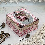 Шкатулки ручной работы. Ярмарка Мастеров - ручная работа Шкатулка Розовая нежность. Handmade.