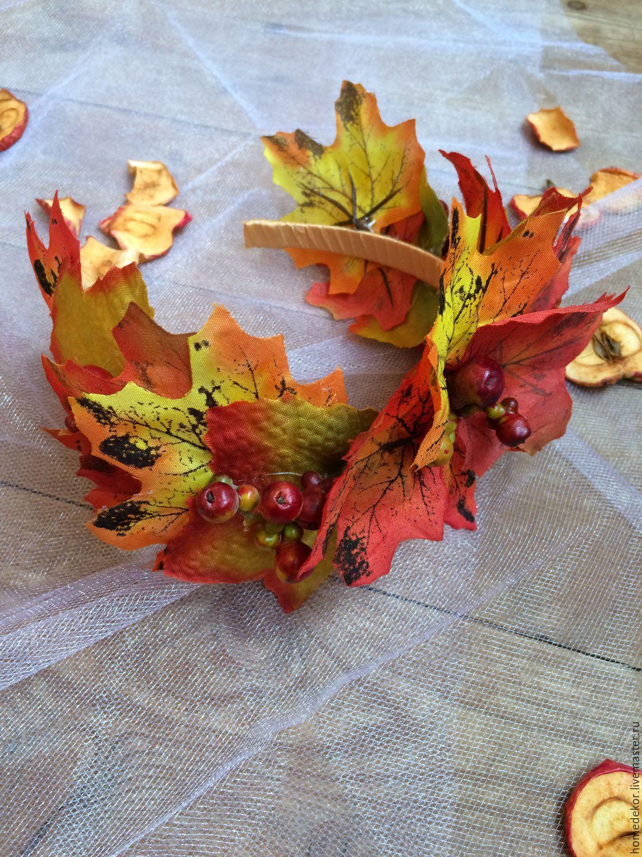 Ободки из листьев своими руками
