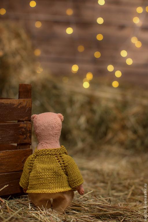 Мишки Тедди ручной работы. Ярмарка Мастеров - ручная работа. Купить светлячки. Handmade. Бледно-розовый, авторская игрушка