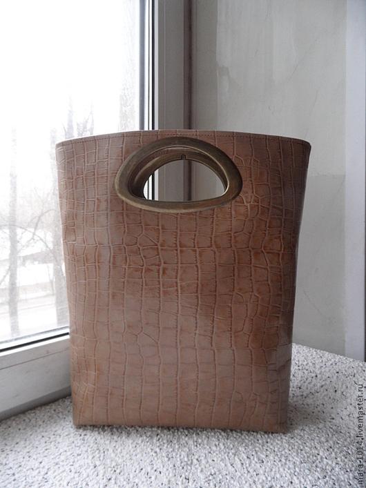 Женские сумки ручной работы. Ярмарка Мастеров - ручная работа. Купить БЕЖЕВЫЙ АКЦЕНТ сумка-пакет. Handmade. Бежевый