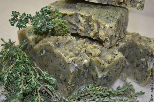"""Мыло ручной работы. Ярмарка Мастеров - ручная работа. Купить """"Розмарин"""" натуральное мыло ручной работы. Handmade. Болотный"""