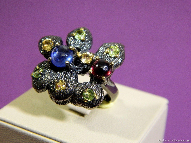 Ring Sapphire, Ruby. Silver ring, Rings, Saratov,  Фото №1