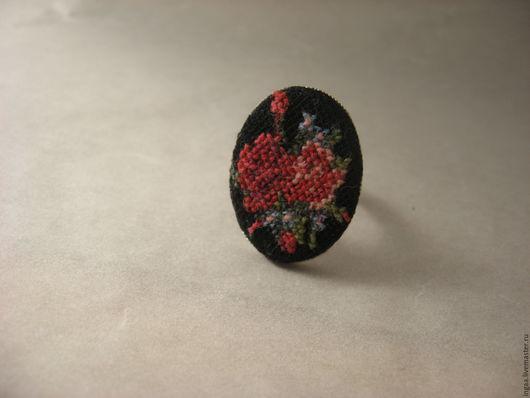 """Кольца ручной работы. Ярмарка Мастеров - ручная работа. Купить Кольцо """"Букет роз с незабудками"""". Handmade. Черный, винтажные украшения"""