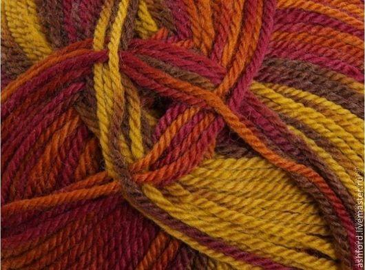 """Вязание ручной работы. Ярмарка Мастеров - ручная работа. Купить Пряжа для вязания метанж, """"Марокко"""". Handmade. Комбинированный, пряжа меринос"""