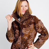 """Одежда ручной работы. Ярмарка Мастеров - ручная работа Жакет женский куртка из войлока """" Шоколадный вкус...."""". Handmade."""